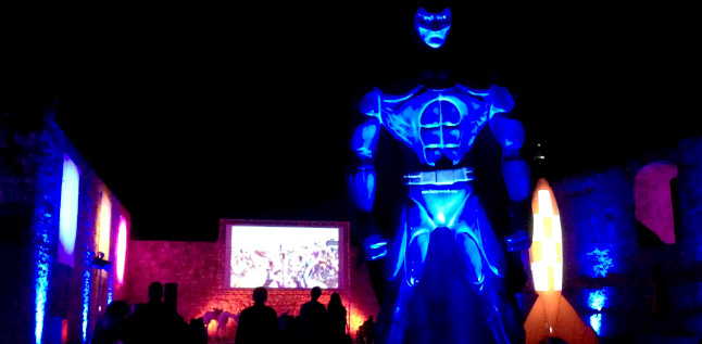 Lights and visuals at the medieval castle of Torres Vedras